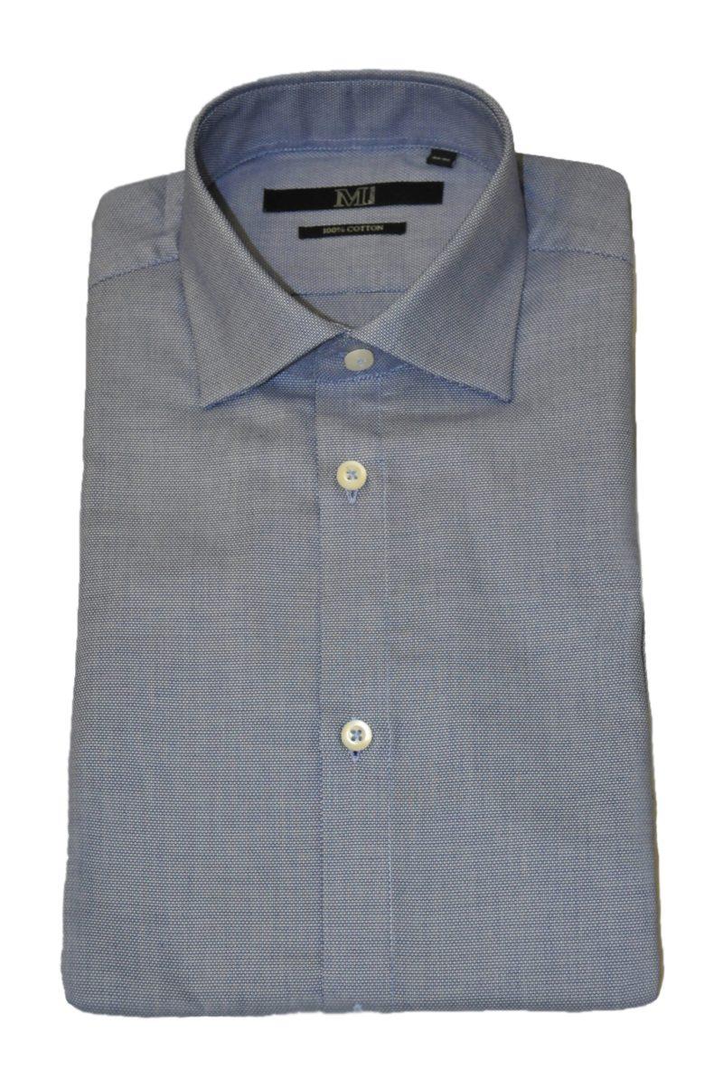 Μπλε σκούρο βαμβακερό πουκάμισο MARCUS