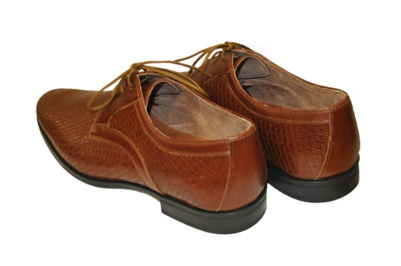 Κάμελ δερμάτινα παπούτσια MAN2MAN