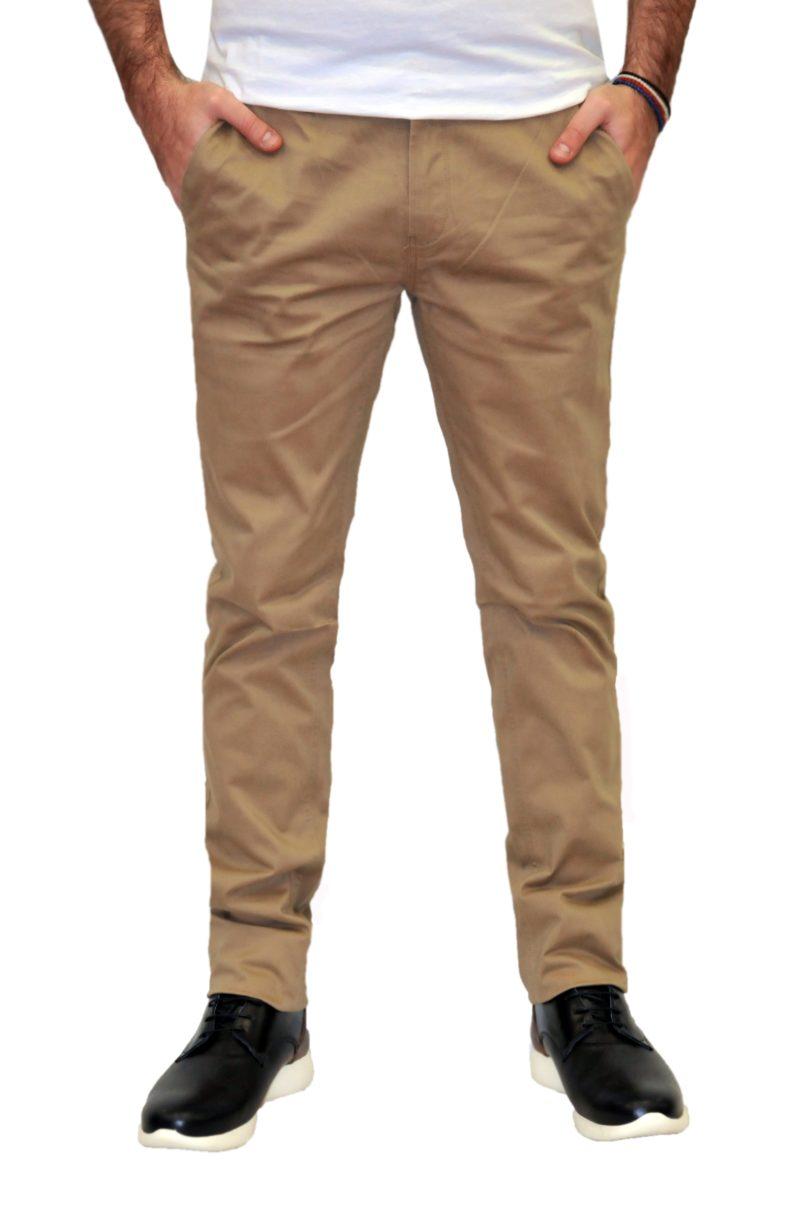 Κάμελ καλοκαιρινό βαμβακερό παντελόνι PRE END