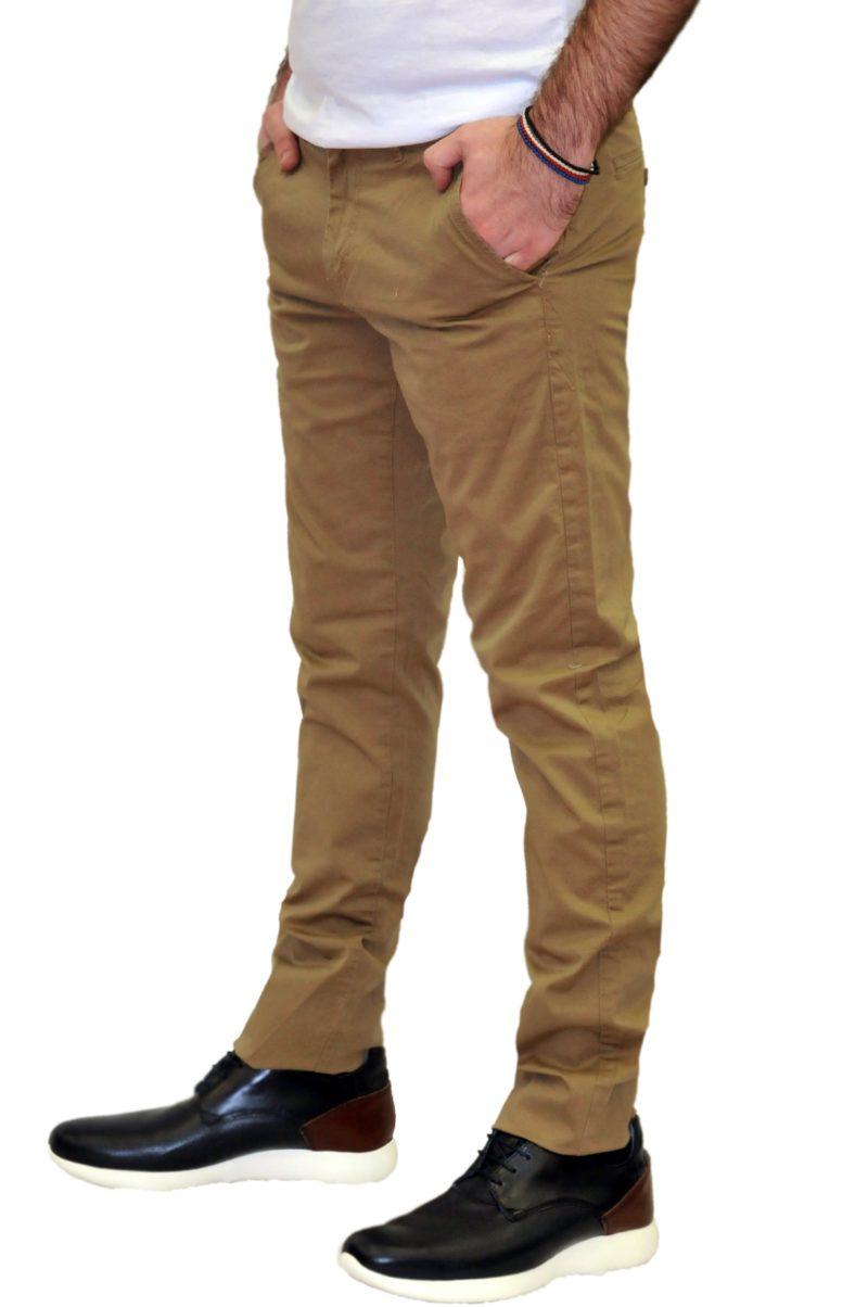 Καφέ καλοκαιρινό βαμβακερό παντελόνι PRE END