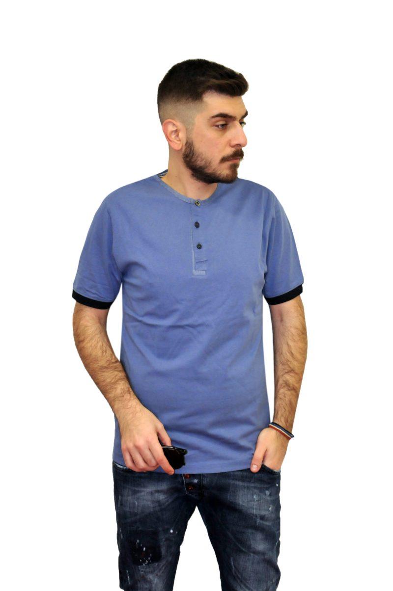 bfc0d4503e93 Ραφ καλοκαιρινό βαμβακερό κοντομάνικο μπλουζάκι PRE END