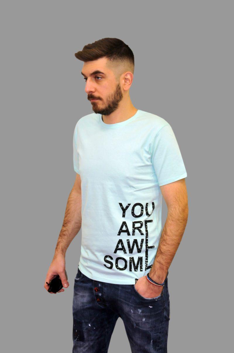 Βεραμάν βαμβακερή κοντομάνικη μπλούζα GREENWOOD