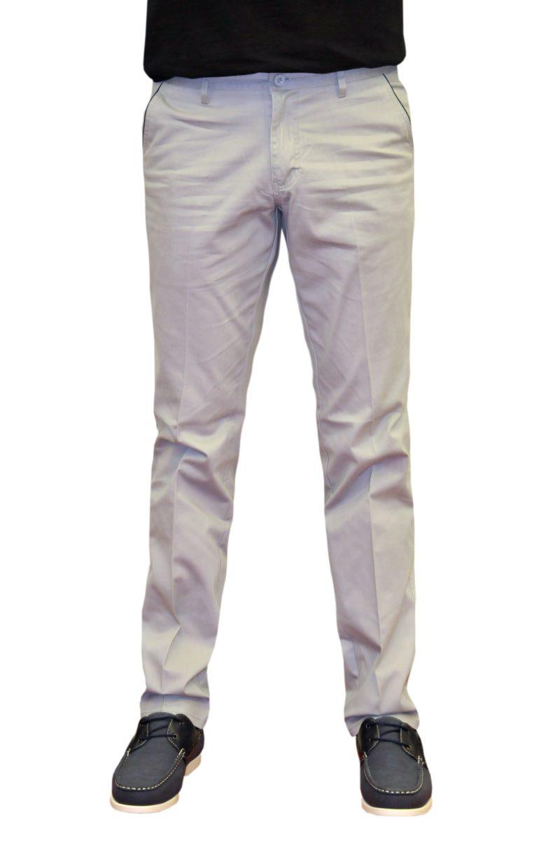 Γκρι καλοκαιρινό βαμβακερό παντελόνι NEW YORK TAILORS