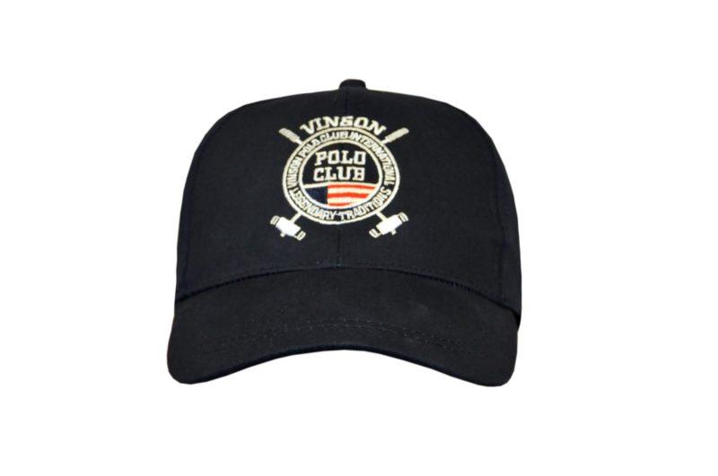 Μπλε σκούρο βαμβακερό καπέλο POLO CLUB VINSON