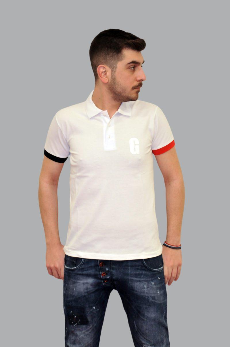 Λευκό καλοκαιρινό βαμβακερό κοντομάνικο μπλουζάκι MARTINI