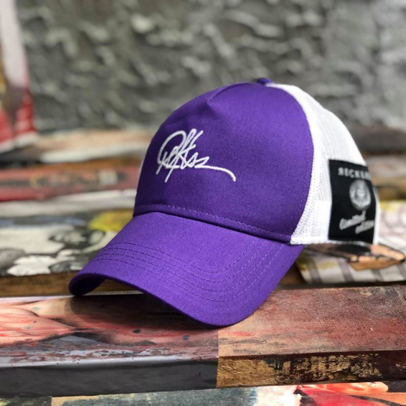 Λευκό-μωβ καπέλο τζόκεϊ RECKLESS