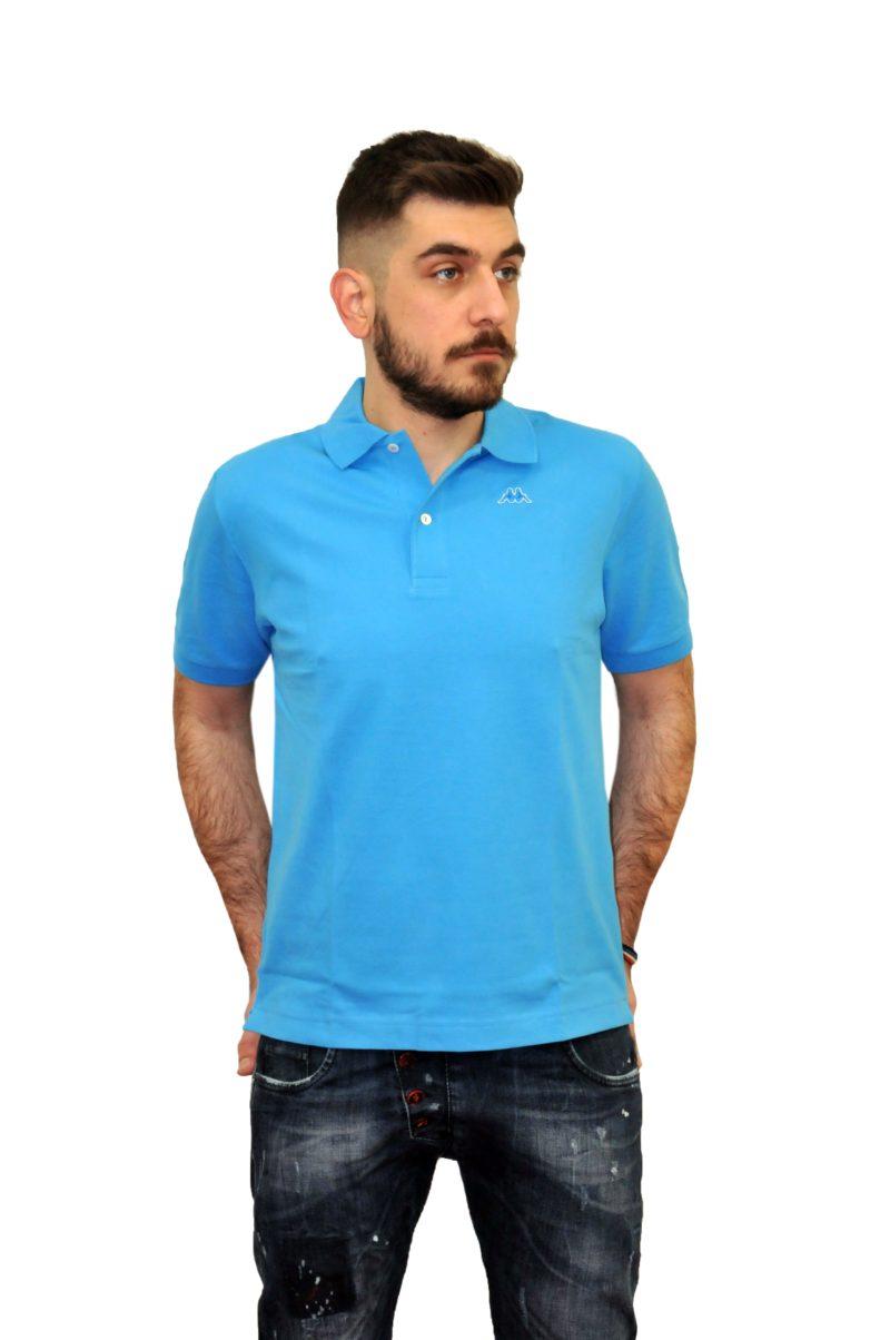 Τυρκουάζ βαμβακερό κοντομάνικο μπλουζάκι ROBE DI KAPPA