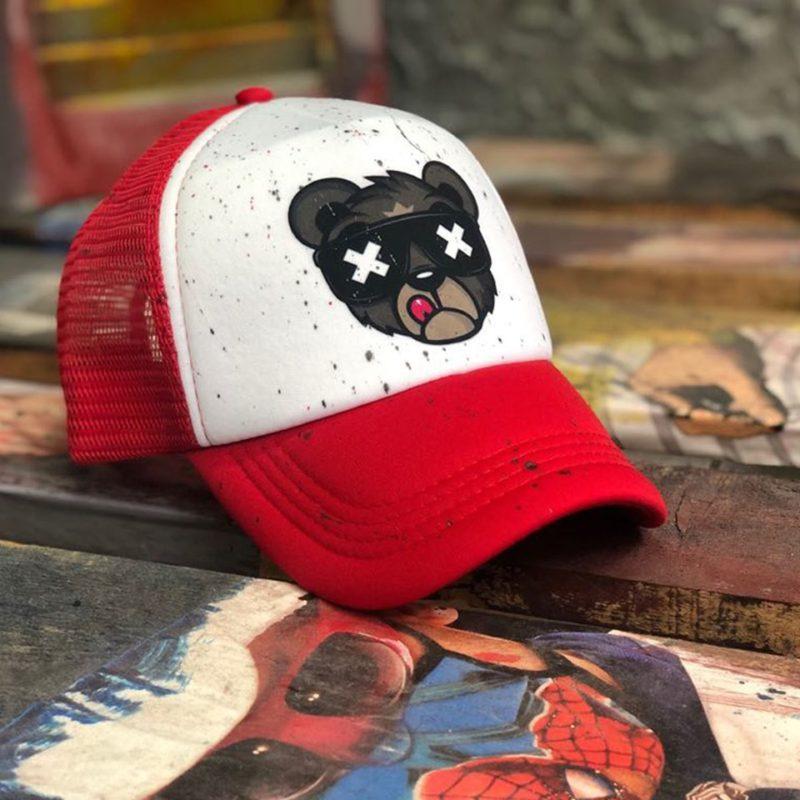 Λευκό-κόκκινο καπέλο τζόκεϊ RECKLESS