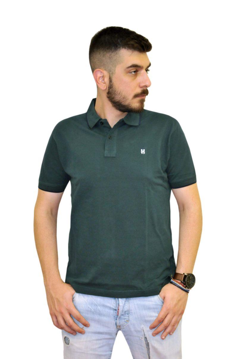 Λαδί βαμβακερό κοντομάνικο μπλουζάκι LEONARDO UOMO
