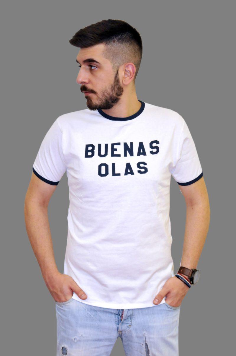 Λευκό βαμβακερό κοντομάνικο μπλουζάκι DOUBLE 45.TS-98.001.02