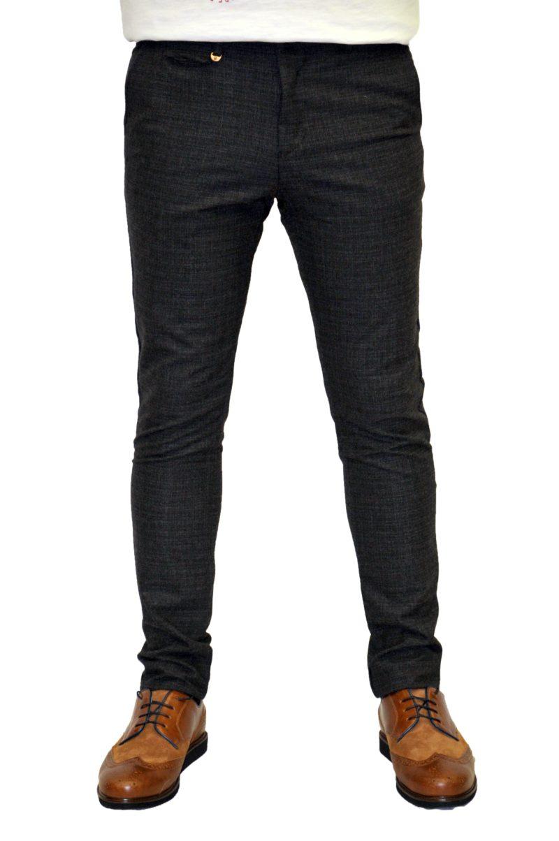 Γκρι σκούρο χειμερινό βαμβακερό παντελόνι BRAND'S