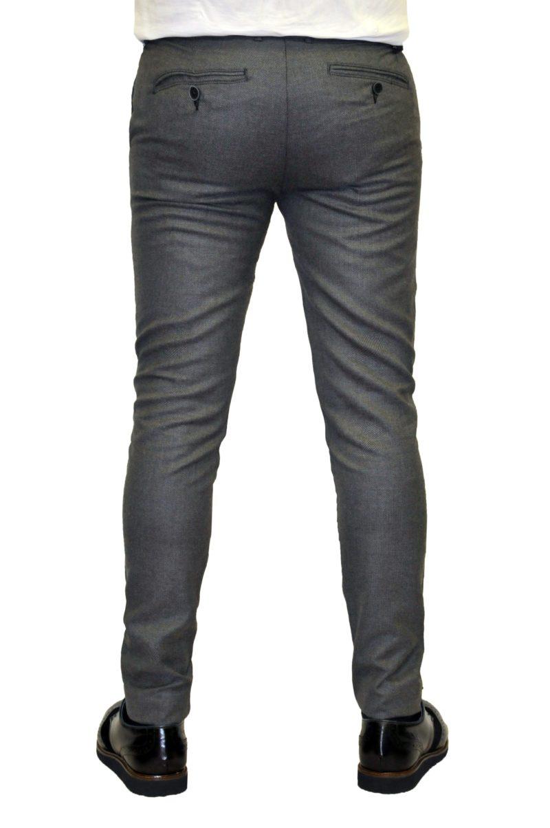 Λευκό-μαύρο χειμερινό βαμβακερό παντελόνι BRAND'S