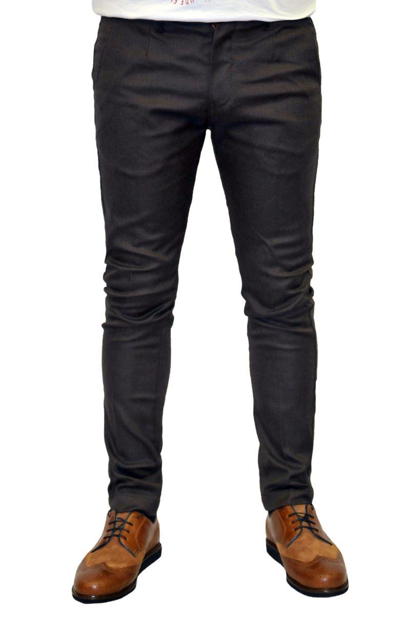 Καφέ σκούρο βαμβακερό χειμερινό παντελόνι