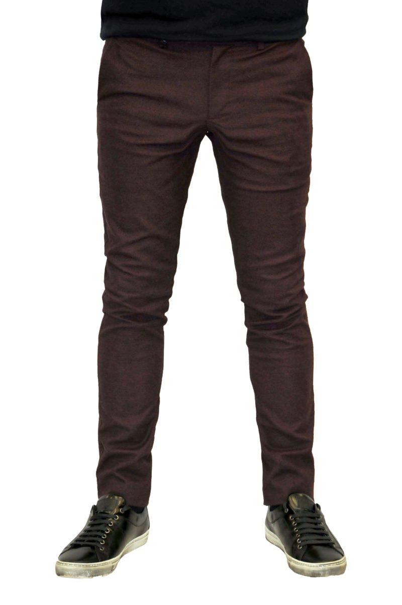 Μπορντό χειμερινό βαμβακερό παντελόνι BRAND'S