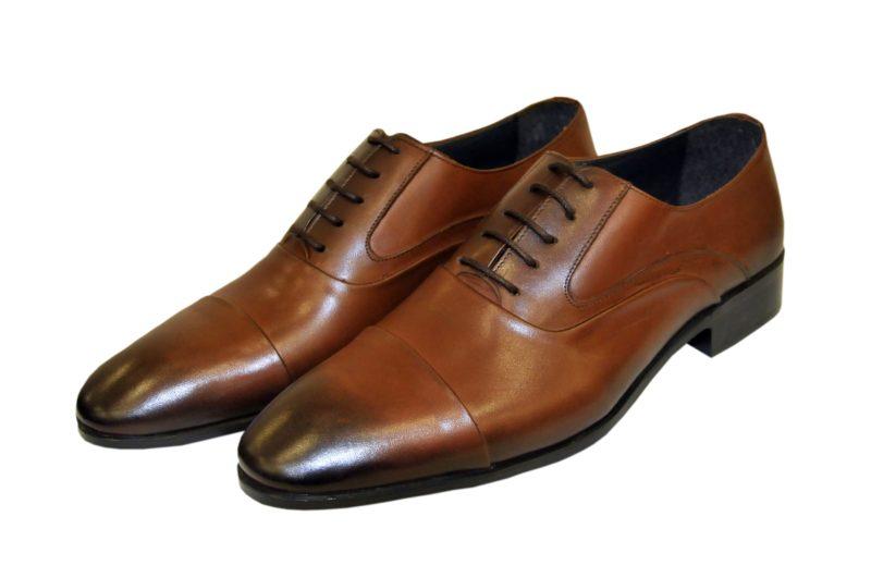 Καφέ δερμάτινα παπούτσια