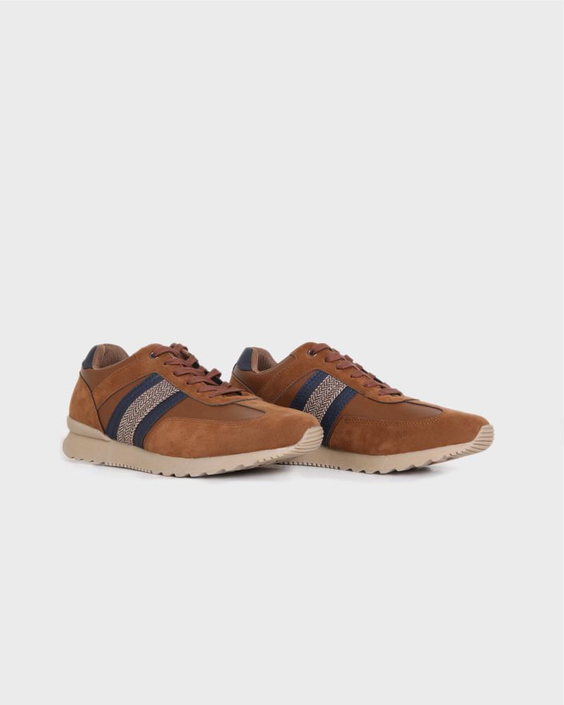 Καφέ sneakers παπούτσια NEW YORK TAILORS