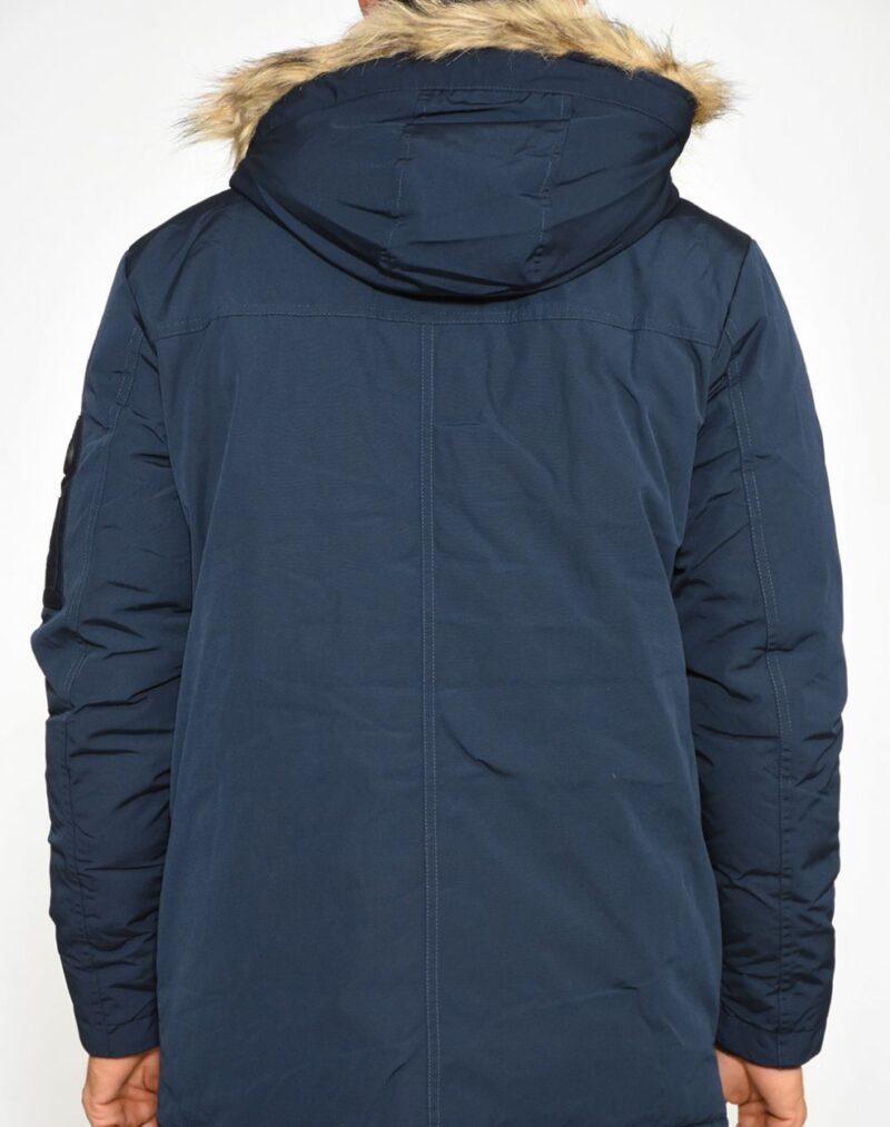 Μπλε σκούρο χειμερινό μπουφάν PRE END