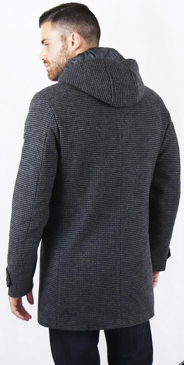 Γκρι-μαύρο παλτό MANAGER