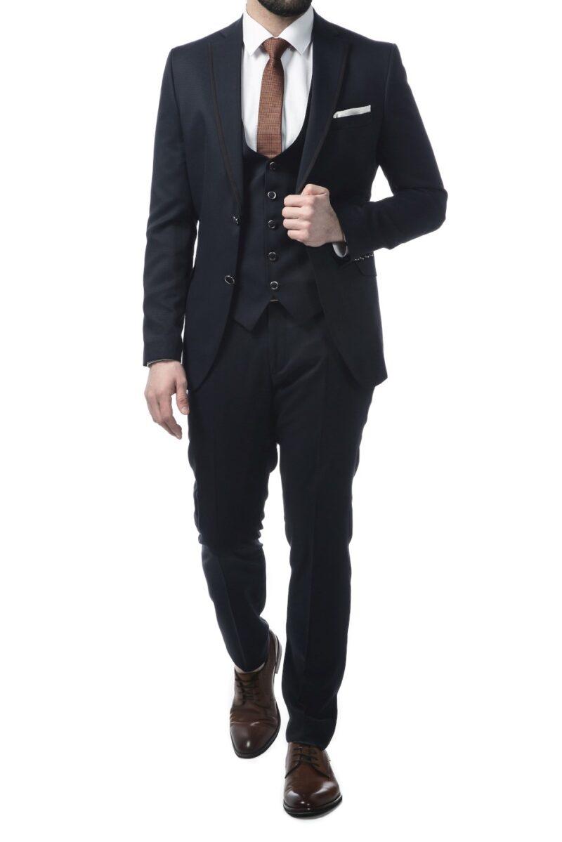 Μπλε σκούρο αμπιγιέ κοστούμι SARTORI