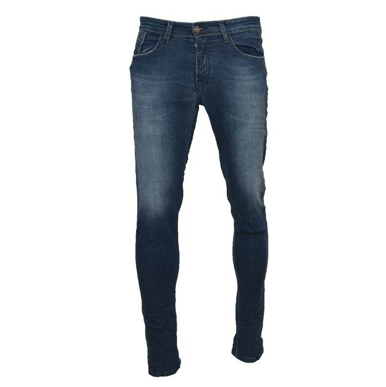 Μπλε τζιν παντελόνι DAMAGED