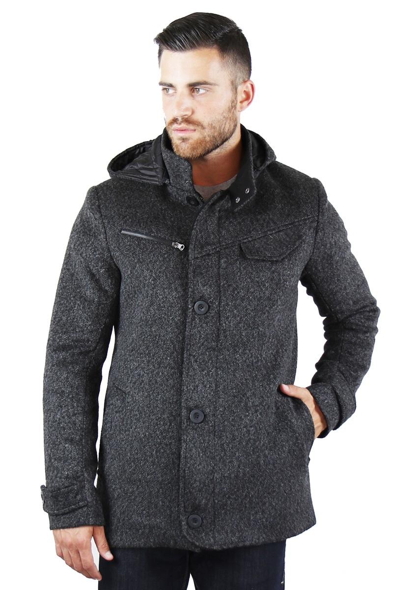 Μαύρο παλτό MANAGER