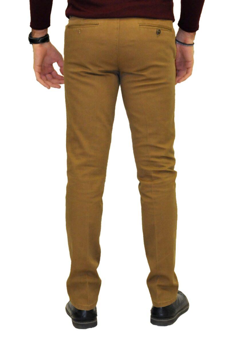 Κάμελ χειμερινό βαμβακερό παντελόνι NEW YORK TAILORS
