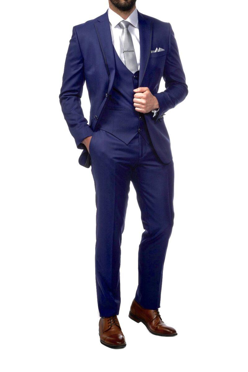 Μπλε αμπιγιέ κοστούμι BOSTON