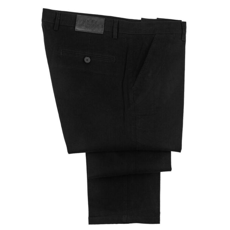 Μαύρο χειμερινό βαμβακερό παντελόνι NEW YORK TAILORS