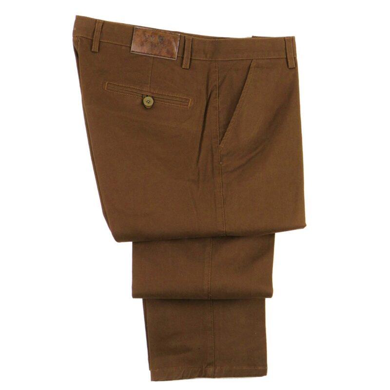 Μπεζ χειμερινό βαμβακερό παντελόνι NEW YORK TAILORS