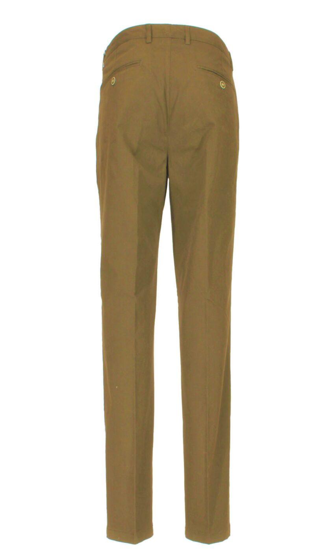 Καφέ χειμερινό βαμβακερό παντελόνι NEW YORK TAILORS