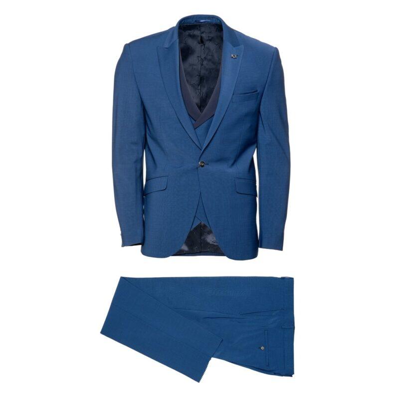 Μπλε σκούρο αμπιγιέ κοστούμι VERSACE 19V69