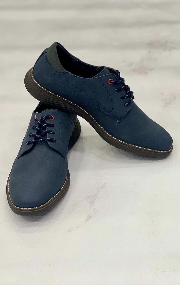 Μπλε σκούρο χειμερινά παπούτσια NEW YORK TAILORS