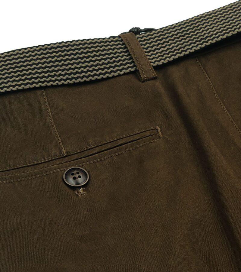 Λαδί χειμερινό βαμβακερό παντελόνι NEW YORK TAILORS