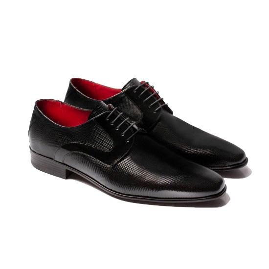 Μαύρα δερμάτινα παπούτσια RAYMONT