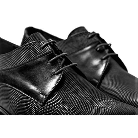 Μαύρο δερμάτινο παπούτσι RAYMONT