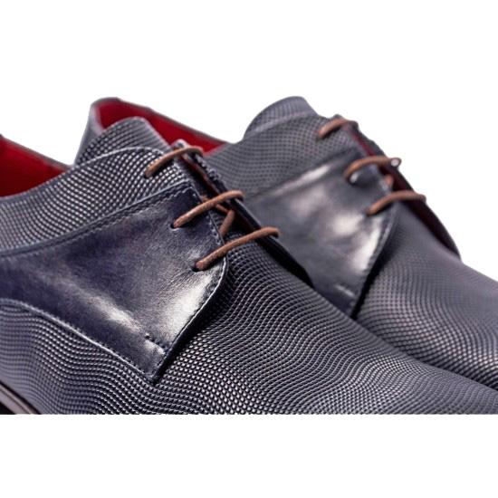 Μπλε δερμάτινα παπούτσια RAYMONT